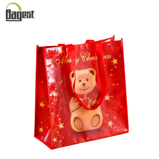 Heavy Duty Foldable Grocery Used Laminated PP Woven Bag pictures & photos