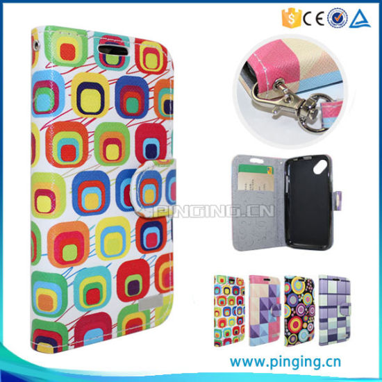 Colorful Leather Wallet Flip Cover Case for Alcatel One Touch Pixi First 4024D pictures & photos