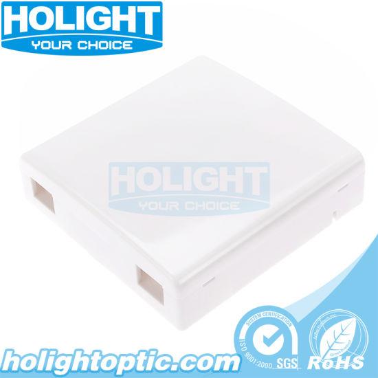 Indoor 2 Port FTTX 86 Type Fiber Optical Wallplate
