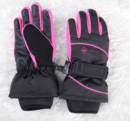 Girls Ski Gloves with Belt