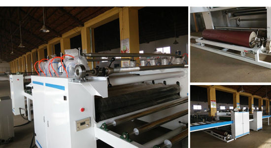 Double Side Wood Base Panel Sticking Machinery pictures & photos