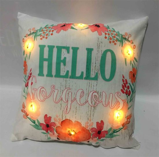 Easter Decorative Gift LED Light up Cushion Pillow for Home Decor