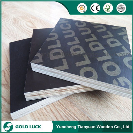 Poplar Core WBP Glue Black Film Faced Marine Plywood pictures & photos