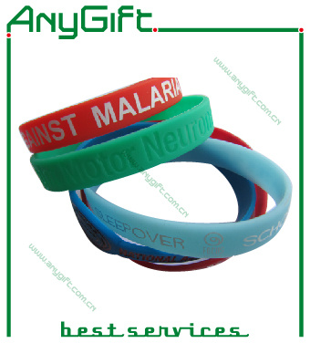Silione Bracelet with Customized Logo and Color (LAG-WB-11) pictures & photos