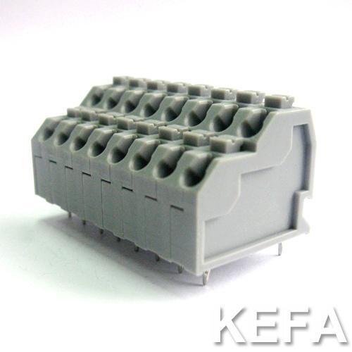 Dual Row 300V 10A 22-18AWG PCB Screwless Terminal Connector