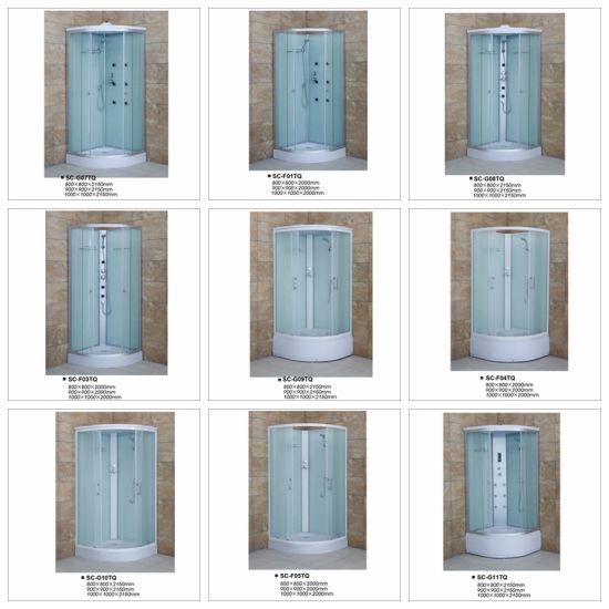 Sliding Door Shower House with Tempered Fabric Glass pictures & photos