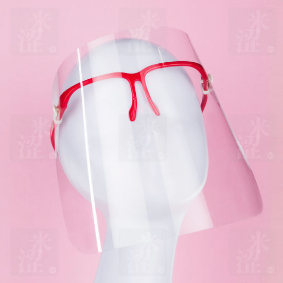 Semi, Red Plastic Quality Reusable Cover Nose and Mouth Face Shield