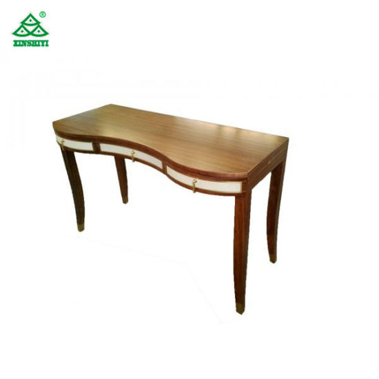Wooden Contemporary Writing Desk Bedroom Furniture With Solid Wood Legs