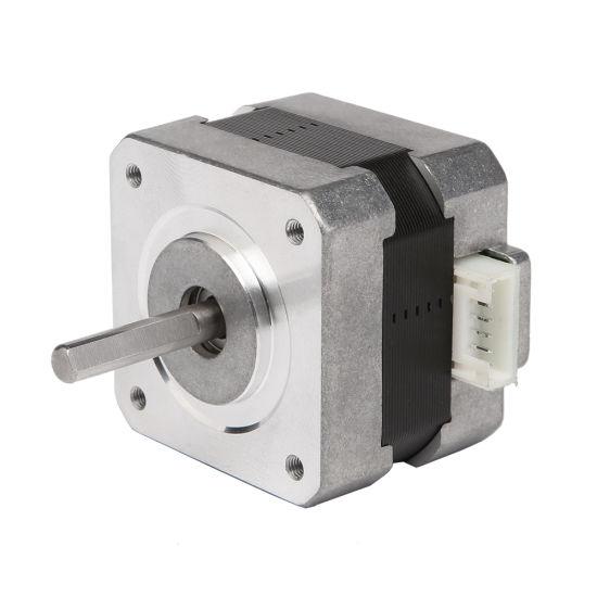 12V Hybrid NEMA 17 Flat Shaft Stepper Motor for 3D Printer 17HS 42byg  (42SHD0001-24B)