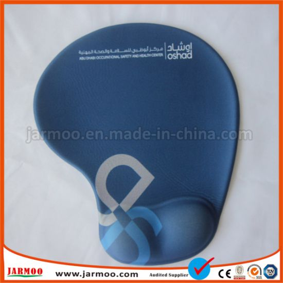 China Promotional Logo Printed Custom Mouse Pad With Wrist
