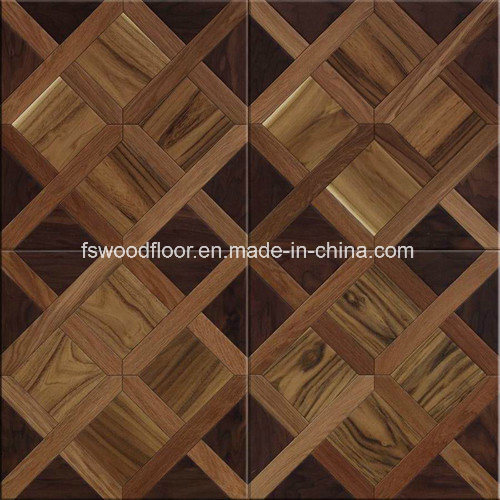 China Morden Design Square Marquetry Art Parquet Wood Flooring