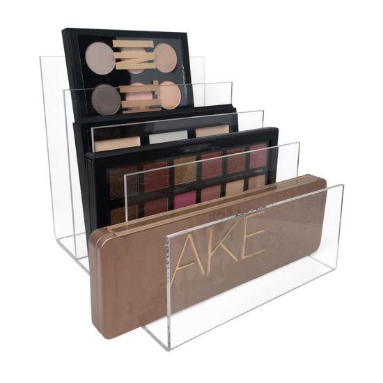 Customized Acrylic Makeup Palette Organizer Clear Desktop Holder