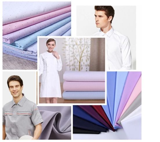 Hot Sale Soft Hand Feeling Woven Plain 100 Cotton Shirting Fabric