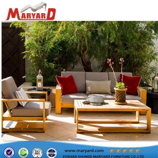 China Teak Garden Sofa Set And Outdoor Teak Wooden Sofa