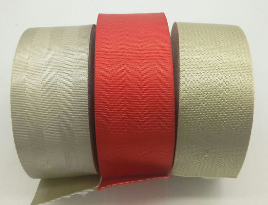 2 Inch 4 Panel Red Light Weight Nylon Webbing Closeout 5 Yards