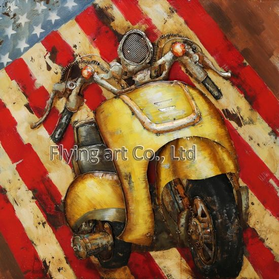 China Homedecorative Oil Painting Wall Art for Motorcycle - China ...