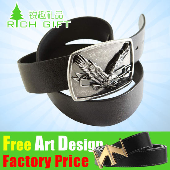 Manufacturer Price Wholesale Custom Made 3D Fashion Logo Webbing Seat Zinc Alloy/Brass/Western Antique Silver Adjustable Metal Pin Belt Buckle for Leather Belt