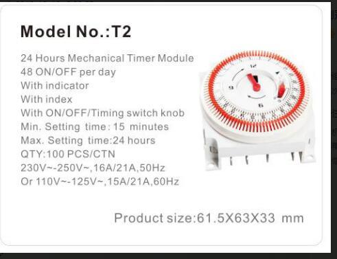 24hour Mechanical Wall-Mounted Timer for Air Conditioner