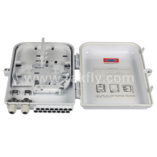 FTTH Waterproof 16 Ports Fiber Optic Termination Box with Splitter