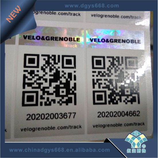 Qr Code Security Tamper Hologram Sticker