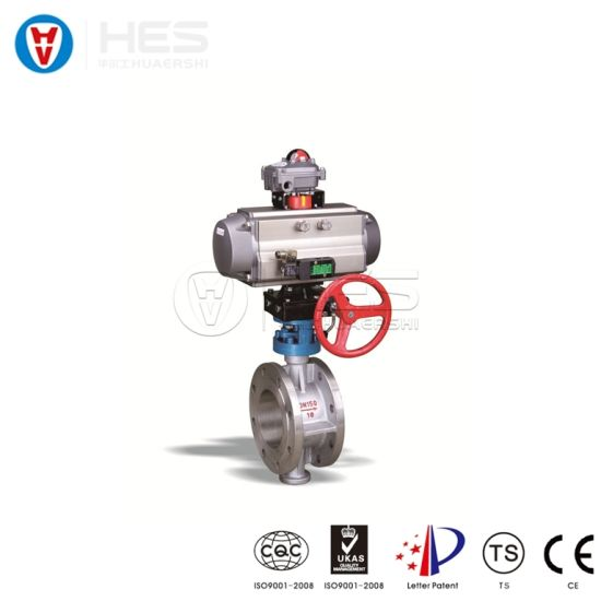 Flange Type Metal Hard Sealed Pneumatic Butterfly Valve