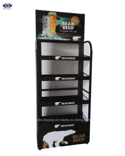 Top Quality Supermarket Metal Beer Display Rack for Wholesales pictures & photos