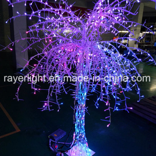 multicolor cherry led tree light for holiday decoration
