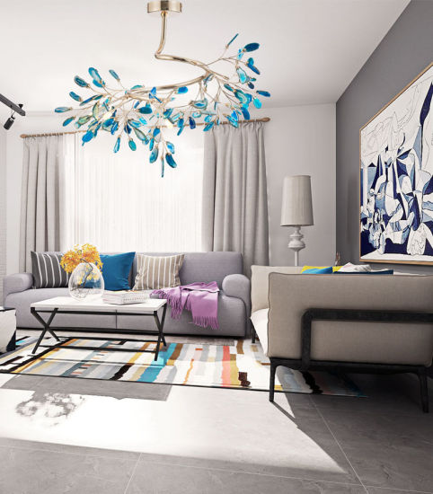 Firefly Chandelier Bedroom Post-Modern Creative Personality Agate Lamp Branches