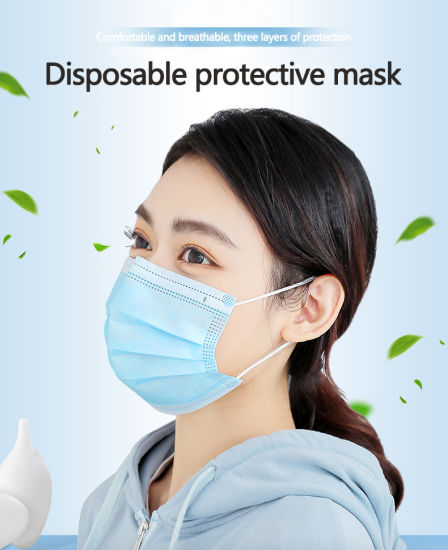 Factory Fast Deliver SGS Test Report 3ply Disposable Medical Mask White List