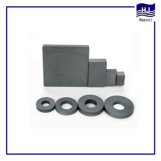 Different Sihape Square Ring Sintered Ferrite Motor Magnet
