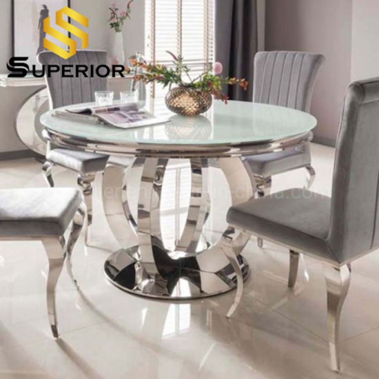 China American Style Dining Table Set, Glass Dining Room Sets