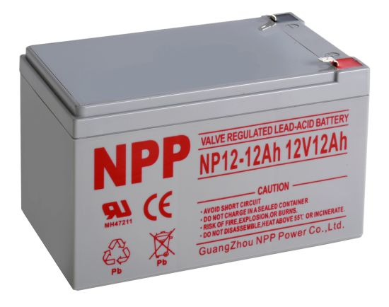 Npp 12V12ah AGM Rechargeable Battery Maintenance Free Lead Acid Battery for UPS, Alarm, Emegency Systems