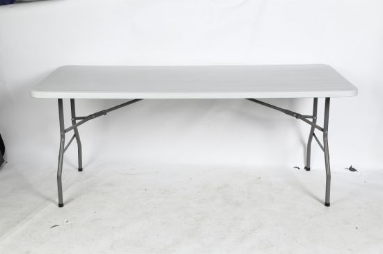 China 6ft Home Depot Folding In Half Portable Plastic Indoor Tables For Study Table Rectangular