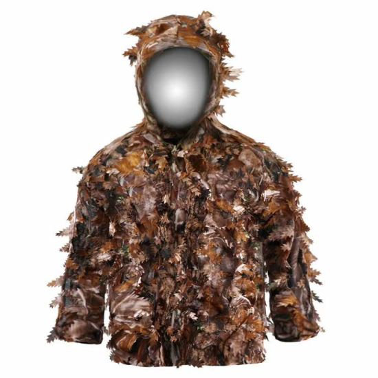 Ghillie Suit 3D Leafy Camouflage Clothing Jungle Woodland for Hunting