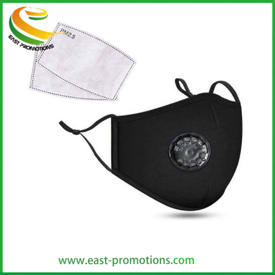Replaceable Pm2.5 Filter Cotton Mask, Reusable Cloth Masks with Valve for Outdoor Protective pictures & photos