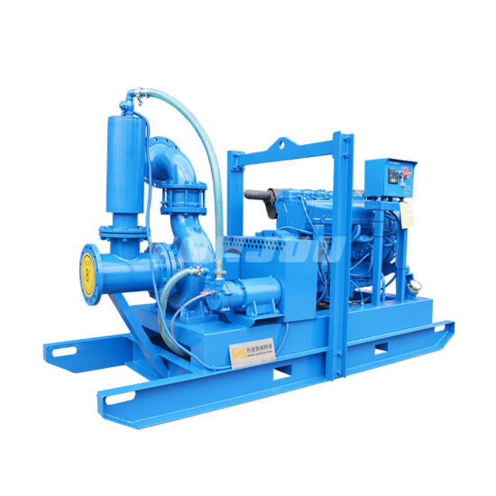 """Yonjou Yp 6""""Inch 8""""Inch Diesel Engine Vacuum Priming Assisted Automatic Auto-Prime Solid Handling Well Point Dewatering Pump (for Mining/Industry/Construction)"""
