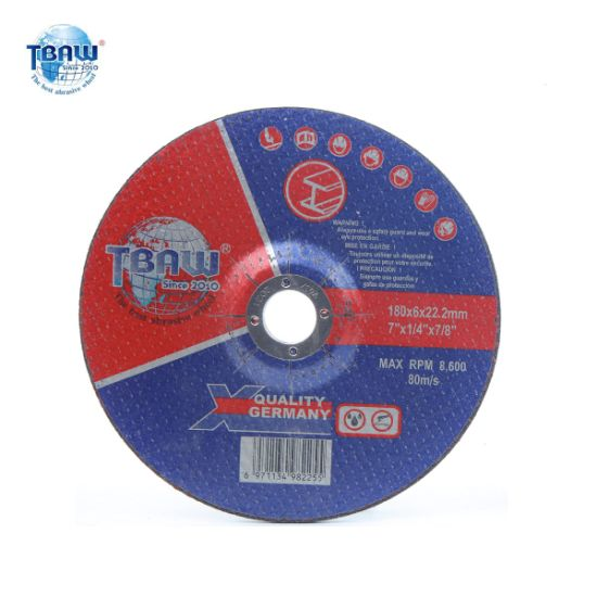 Factory Good Quality and Professional Abrasive China Grinding Wheel for Metal 180 mm