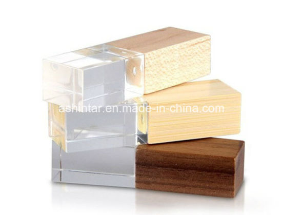 USB Pen Drive Memory Bamboo USB Stick Wooden Crystal USB Flash Drive pictures & photos