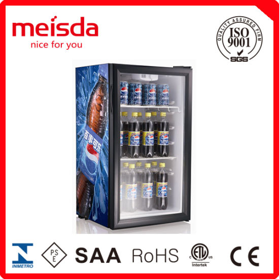 China 98l Upright Glass Door Beer Refrigerator Cooler China Beer