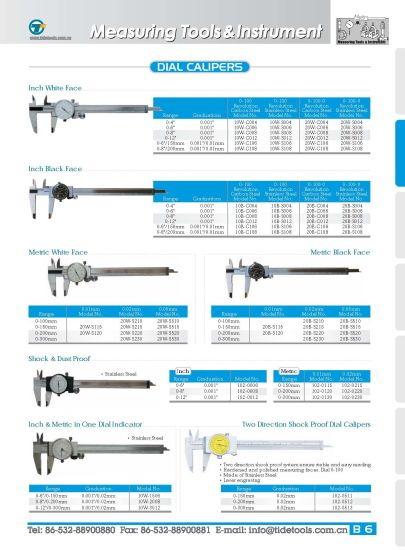 Dual Accuracy Readings Dial Caliper pictures & photos