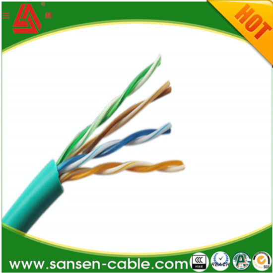 China UTP/FTP/SFTP Cat5e CAT6 CCA Cu LSZH 24AWG Network Wire LAN ...