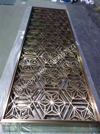 Stainless Steel Room Partition Screen / Room Divider / Home Decorative  Garden Metal Panels