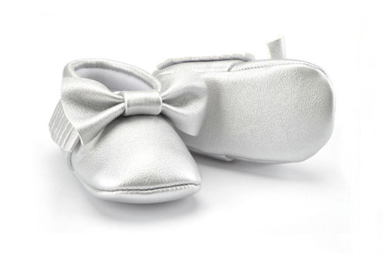 New Style Soft Leather Bowknot Design Infant Baby Shoes pictures & photos