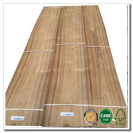 China Hot Sale Natural Wood Veneer Burma Teak Veneer Quarter