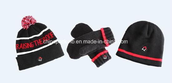 e50d756fa04 China Jacquard Weave Beanie Hat Toque Mittens Sets (CPHC-7015X ...
