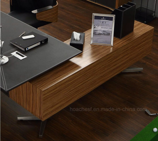 2017 Modern Metal Leather Computer Desk (V5) pictures & photos
