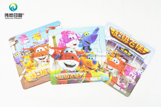 High Quality Colorful Paper Printing Rigid Card Puzzle pictures & photos