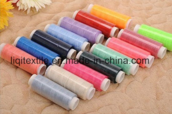 100% Polyester Sewing Thread Finger Yarn Polyester Yarn pictures & photos