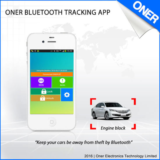 GPS Bluetooth Tracker with Free Tracking APP and System