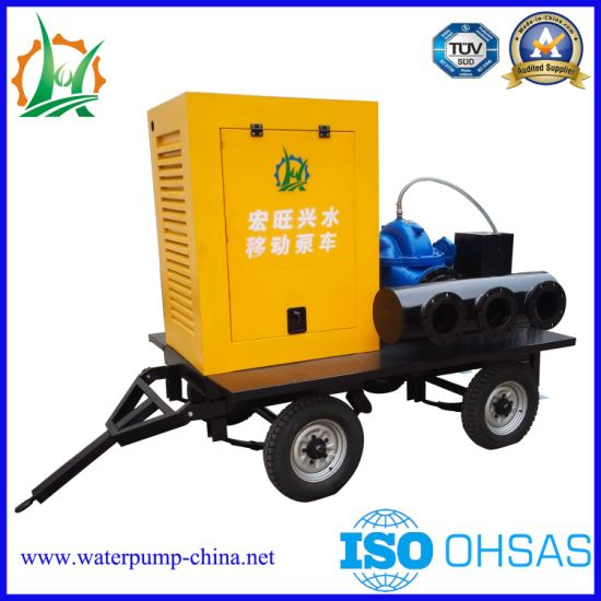 Trash Double Suction Split Case Centrifugal Diesel Water Pump pictures & photos